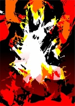 Fire Grunge Vector Background