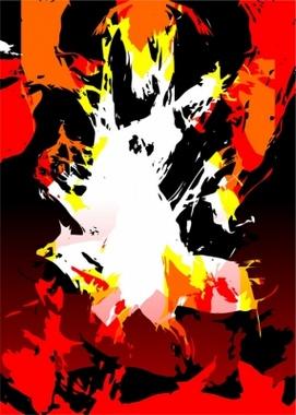 Fire Grunge Vector Background
