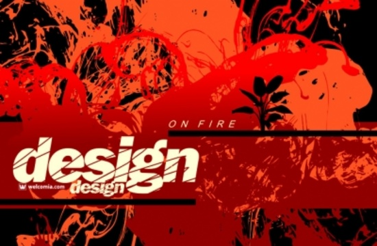 Cool Vector Fire Flames Background