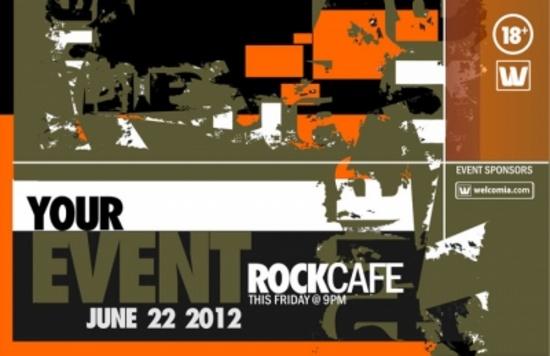 Cool Event Grunge Postcard