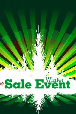 Winter Sales Event Vector Design