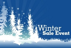 Winter Landscape - Sale Free Vector