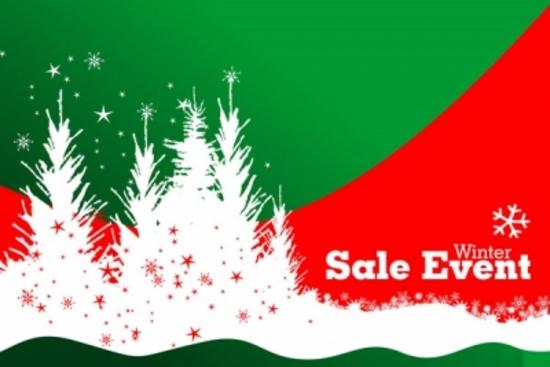 Winter Sale Business Vector Design
