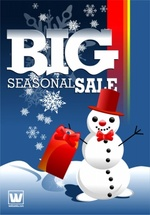 Seasonal Sale Snowman Vector Design