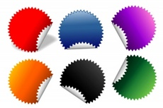 Colorful Vector Folded Tags