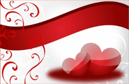 Two Red Hearts Vector Design