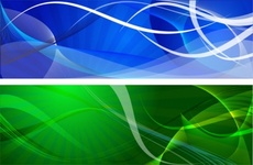 Banners - Blue and Green Vector Banner Backgrounds