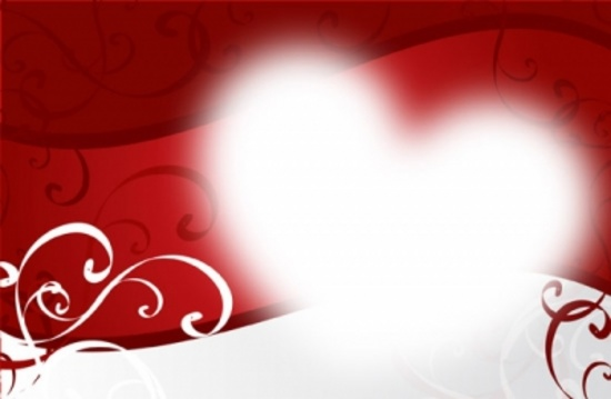 Floral Heart Vector Background