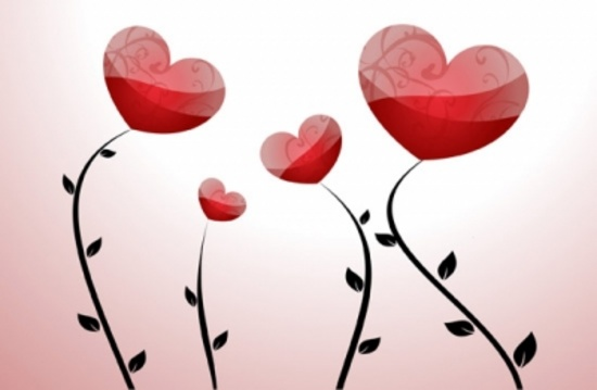 Floral Hearts Free Vector