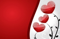 Red Hearts Free Vector Art