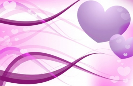 Pink Love Vector Hearts Free Design