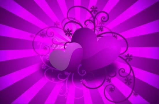 Purple Hearts Vector Design