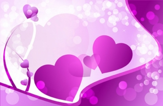 Cool Violet Valentines Vector Art