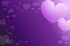 Violet Valentine Background Design