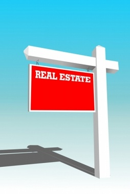 Real Estate Yard Sign Vector