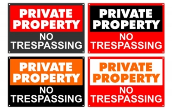 Private Property Free Vector Signs