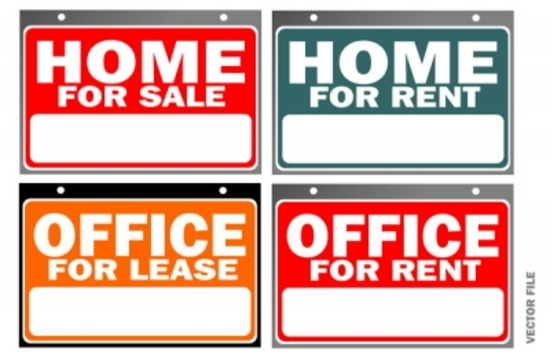 Home For Sale Vector Signs