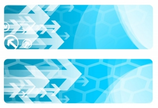 Free Blue Arrows Vector Banners