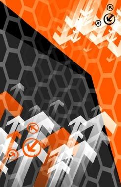Cool Black Orange Arrows Vector Design