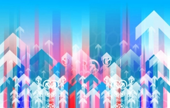 Colorful Arrows Free Vector Background