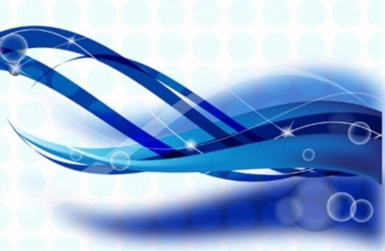 Blue Wavy Vector Design