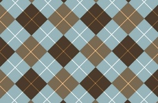 Browny-Blue Vector Tartan Background