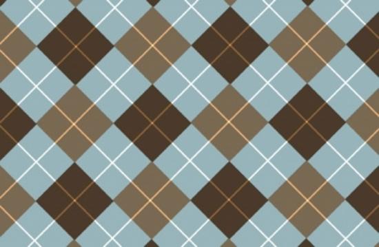 Browny-Blue Vector Tartan Background