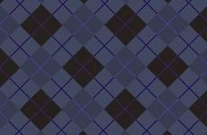 Free Dark Blue Tartan Vector