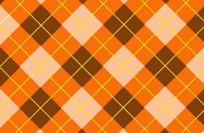 Orange Tartan Free Vector