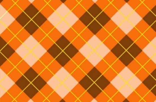 Orange Tartan Free Vector