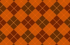 Browny Orange Free Vector Tartan
