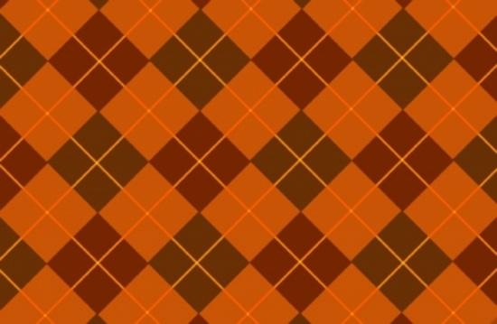 Browny Orange Free Vector Tartan