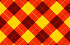 Cool Red Yellow Tartan Background