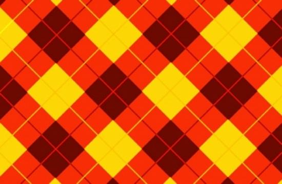 Cool Red Yellow Tartan Background