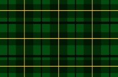 Green Scottish Tartan Vector