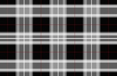 Black Scottish Tartan Vector