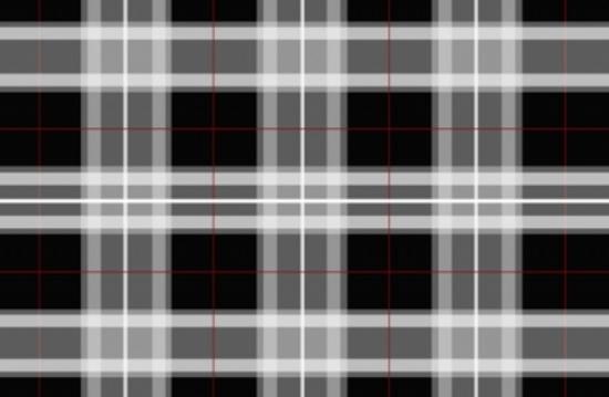 Black Scottish Tartan Vector