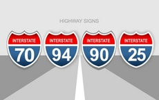 US Highway Vector Signs