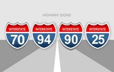 US Highway Vector Signs