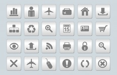 Gray Web Vector Icons