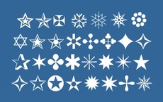 Free Stars and Snowflakes Vector Icons