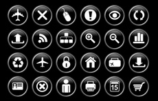 Black Web Vector Icons