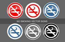 No Smoking Vector Sign