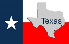 Texas State Map - Texas Flag Vector