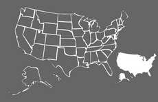 Free Vector: USA States Map