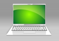 Silver Laptop Vector Design