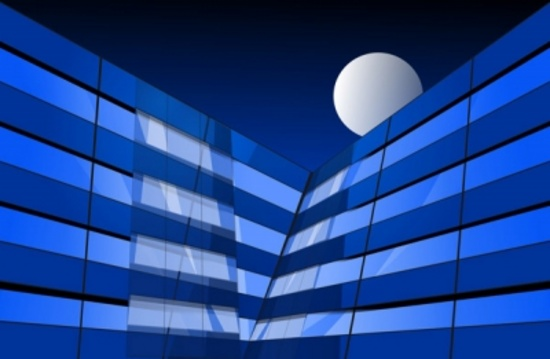 Blue Buildings Complex Vector
