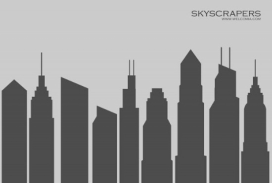 Free City Buildings Silhouettes