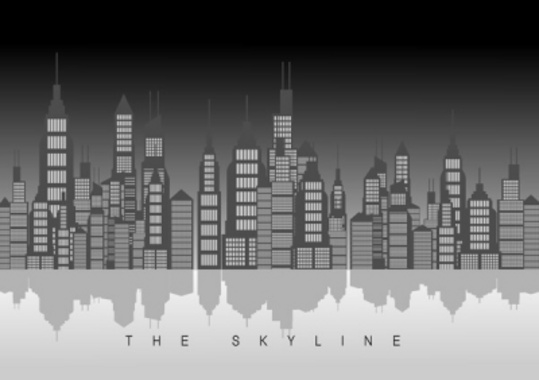 The Skyline. Vector Design.