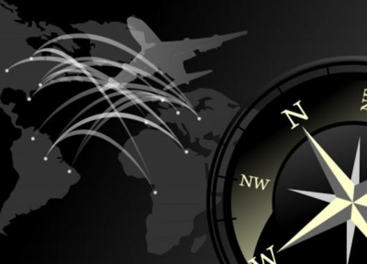 Black Compass World Travel Vector Design